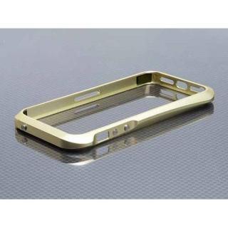 iPhone SE/5s/5 ハイブリットメタルバンパー SEALED D001シャンパンゴールド