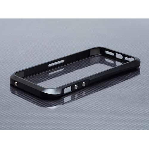 【iPhone SE/5s/5ケース】iPhone SE/5s/5 ハイブリットメタルバンパー SEALED D001ブラック_0