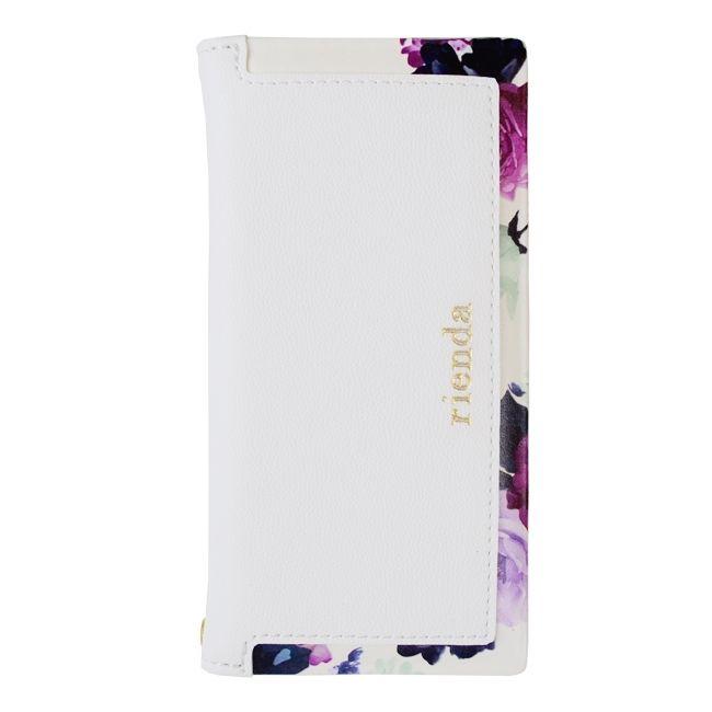【iPhone8/7ケース】rienda 手帳型ケース ローズブライト ホワイト iPhone 8/7_0