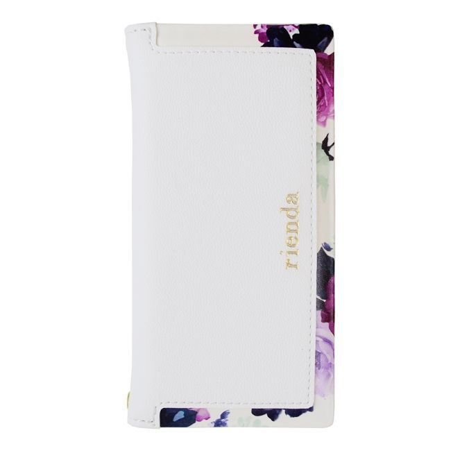 rienda 手帳型ケース ローズブライト ホワイト iPhone 8/7