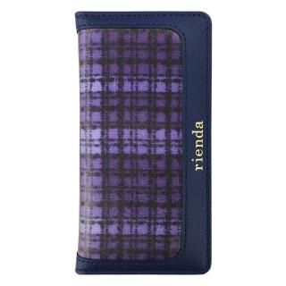 【iPhone8 ケース】rienda 手帳型ケース ツイードプリント ネイビー iPhone 8/7