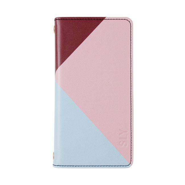SLY 手帳型ケース カラートライアングル ピンク iPhone 8/7