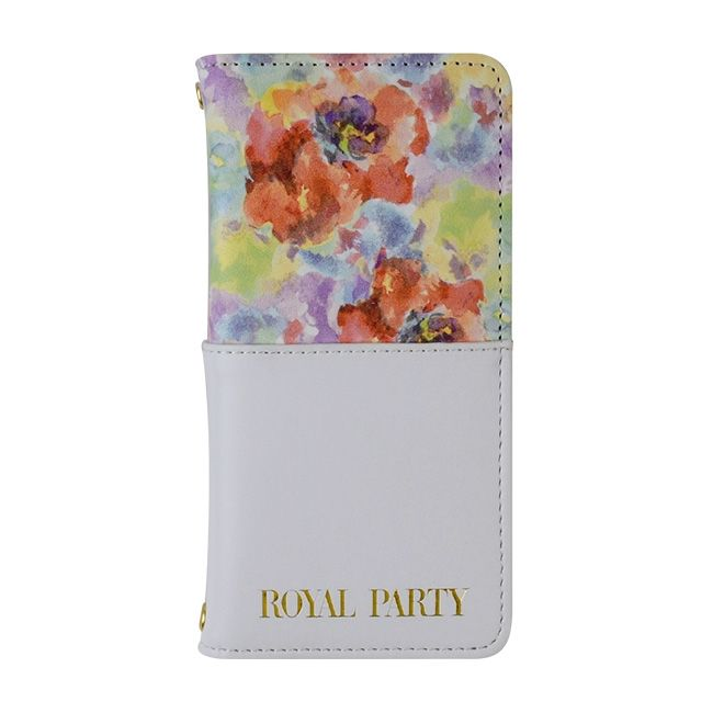 iPhone8/7 ケース ROYAL PARTY 手帳型ケース ハーフ/パステル/ホワイト iPhone SE 第2世代/8/7_0
