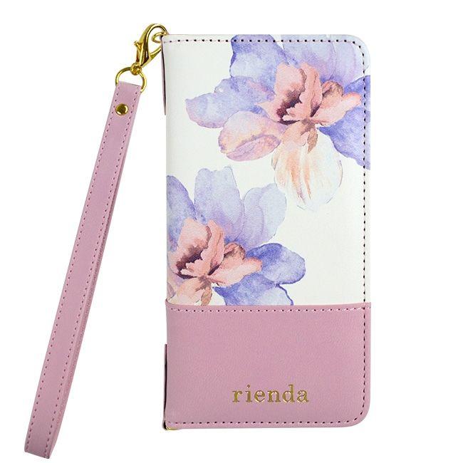 iPhone8/7 ケース rienda 手帳型ケース バイカラーフラワー ロージー/ピンク iPhone 8/7_0