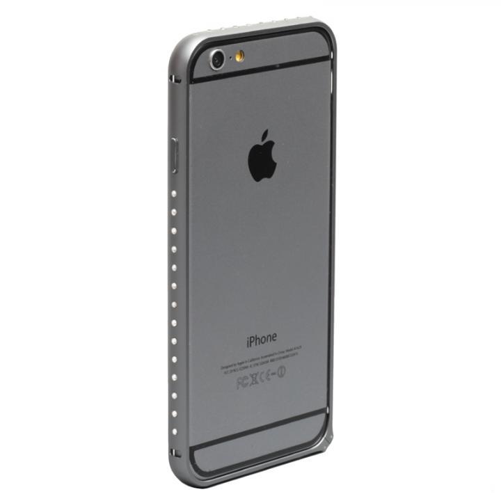 iPhone6 ケース クリスタルを埋め込んだアルミバンパー truffol Crystal Air スペースグレイ iPhone 6_0