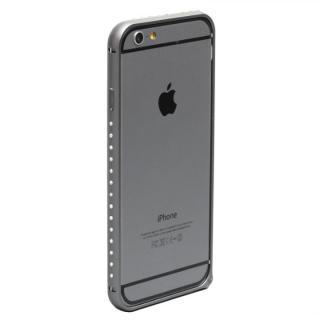 クリスタルを埋め込んだアルミバンパー truffol Crystal Air スペースグレイ iPhone 6