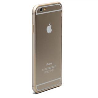 【12月上旬】強化ガラスつき アルミバンパー truffol Rim Air ゴールド iPhone 6