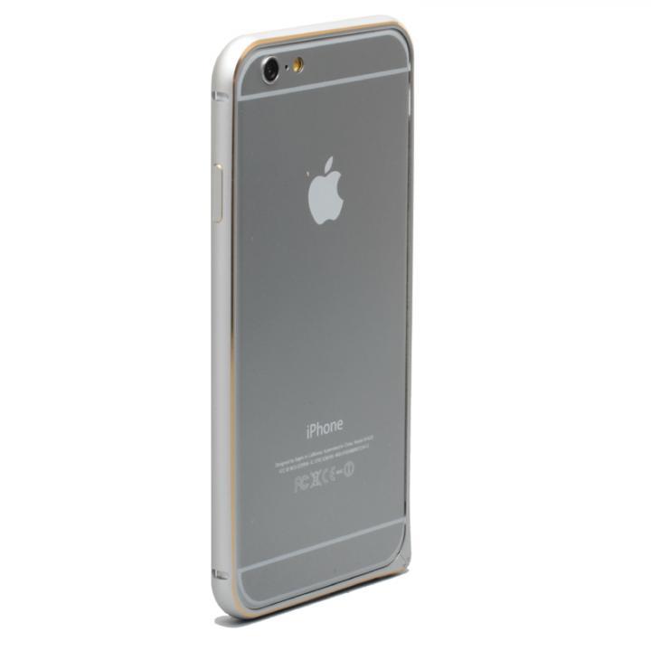 強化ガラスつき アルミバンパー truffol Rim Air シルバー iPhone 6