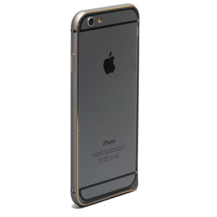 iPhone6 ケース 強化ガラスつき アルミバンパー truffol Rim Air スペースグレイ iPhone 6_0