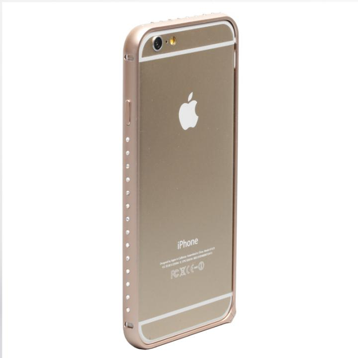 iPhone6 ケース クリスタルを埋め込んだアルミバンパー truffol Crystal Air ゴールド iPhone 6_0