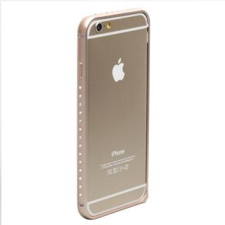 クリスタルを埋め込んだアルミバンパー truffol Crystal Air ゴールド iPhone 6