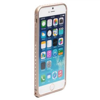【iPhone6ケース】クリスタルを埋め込んだアルミバンパー truffol Crystal Air ゴールド iPhone 6_1