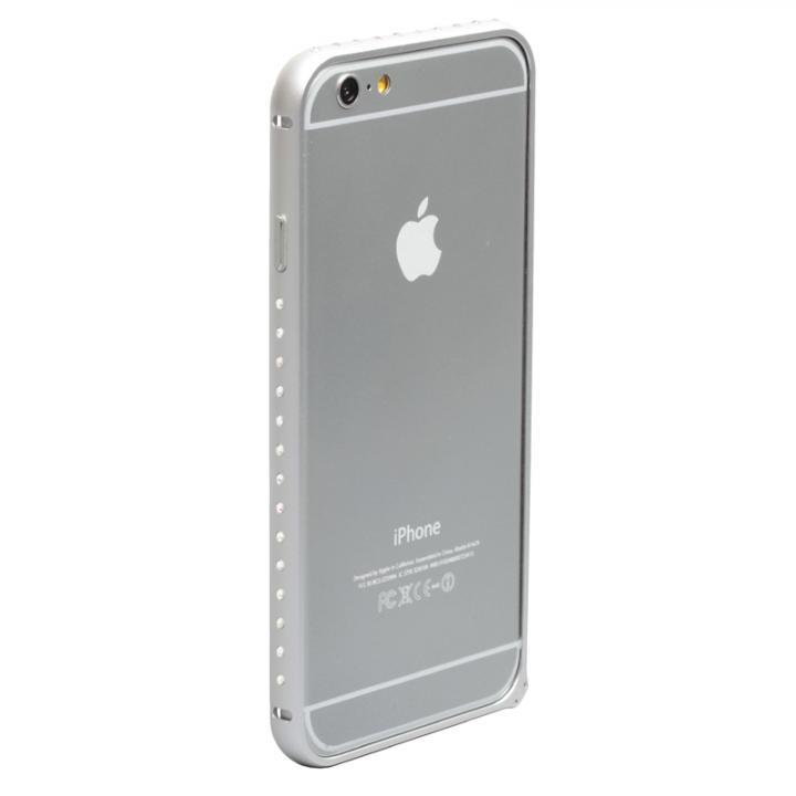 クリスタルを埋め込んだアルミバンパー truffol Crystal Air シルバー iPhone 6