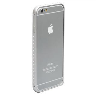 【12月上旬】クリスタルを埋め込んだアルミバンパー truffol Crystal Air シルバー iPhone 6