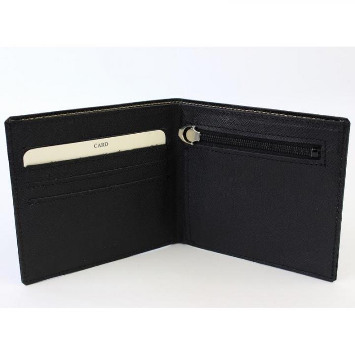 [4周年特価]スマートウォレット 2つ折り財布 ブラック