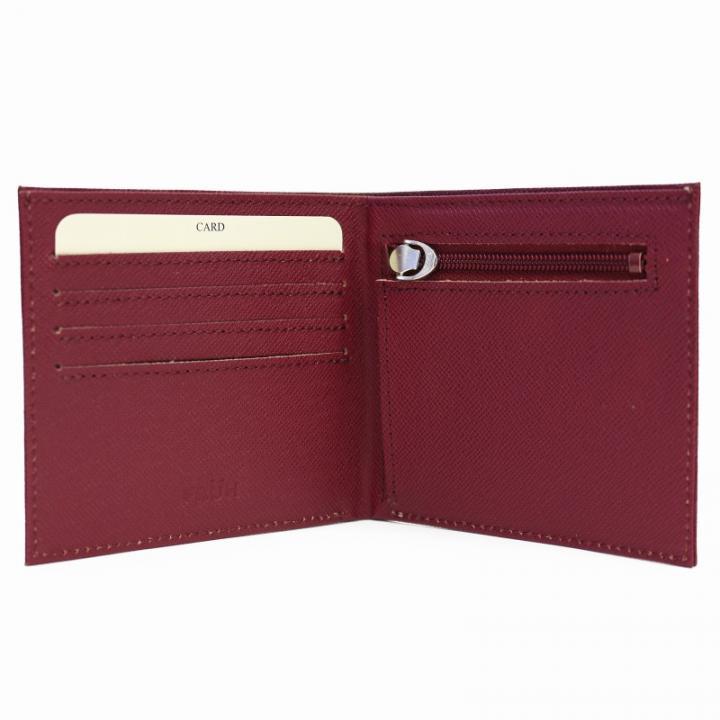 スマートウォレット 2つ折り財布 ワイン_0