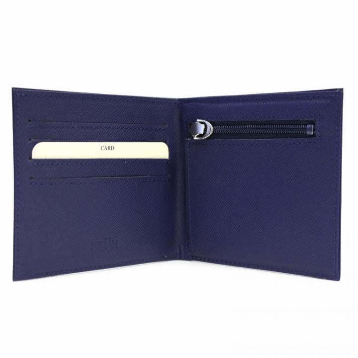 スマートウォレット 2つ折り財布 ネイビー_0