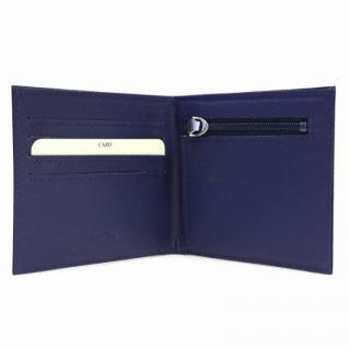[4周年特価]スマートウォレット 2つ折り財布 ネイビー