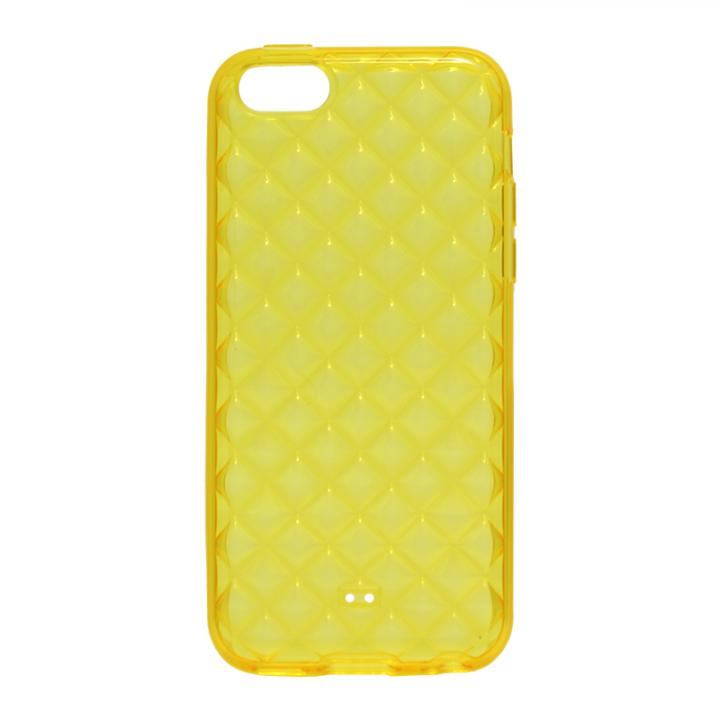 iPhone 5c TPUケース(ダイヤ) イエロー_0