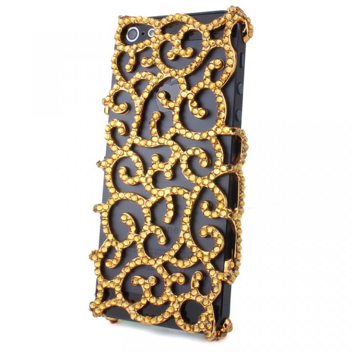 iPhone SE/5s/5 ケース デコケースG001・曼陀羅華(Gold)  iPhone 5_0