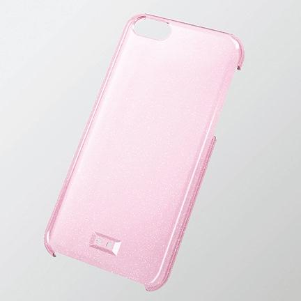 ストラップホール付き シェルケース ラメクリアライトピンク iPhone 5cケース_0