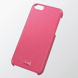 ストラップホール付き シェルケース ラメディープピンク iPhone 5cケース