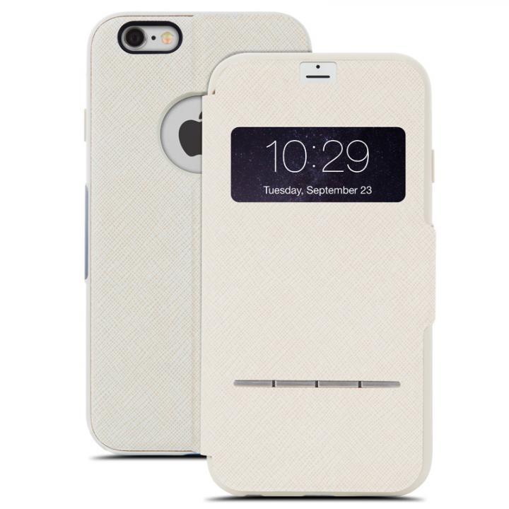 iPhone6 Plus ケース 手帳型ケース moshi SenseCover ベージュ iPhone 6 Plus_0