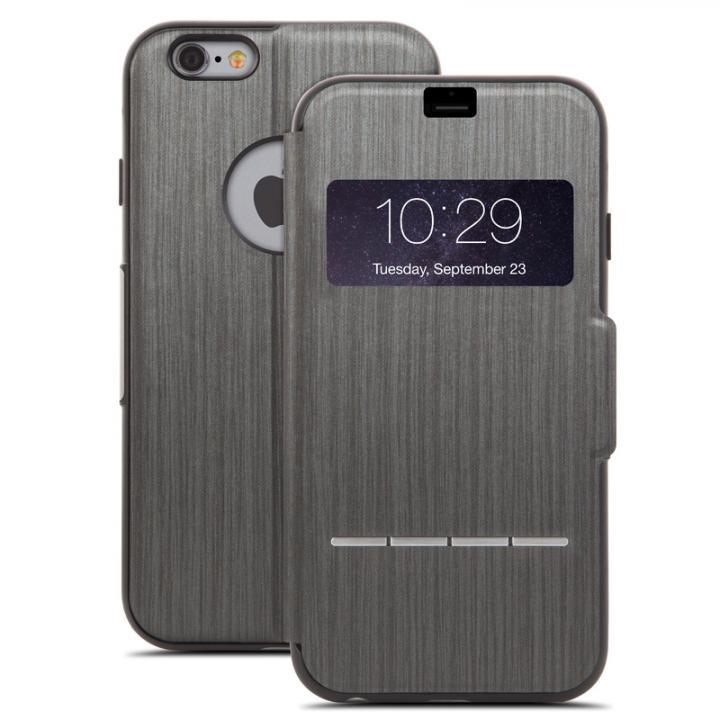 【iPhone6s Plus/6 Plusケース】手帳型ケース moshi SenseCover ブラック iPhone 6 Plus_0