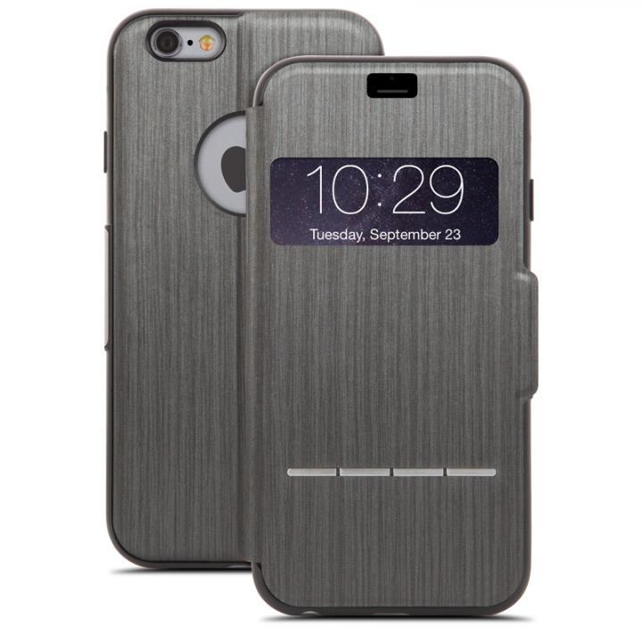 iPhone6 ケース 手帳型ケース moshi SenseCover ブラック iPhone 6_0