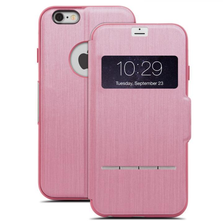 iPhone6 Plus ケース 手帳型ケース moshi SenseCover ピンク iPhone 6 Plus_0