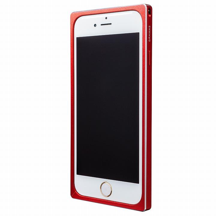 【iPhone6s/6ケース】GRAMAS ストレートメタルバンパー レッド iPhone 6s/6_0