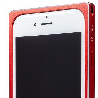 【iPhone6s/6ケース】GRAMAS ストレートメタルバンパー レッド iPhone 6s/6_6
