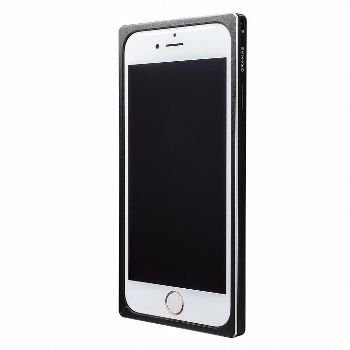 【iPhone6s/6ケース】GRAMAS ストレートメタルバンパー ブラック iPhone 6s/6_0