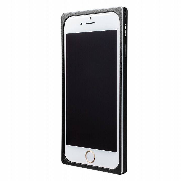 GRAMAS ストレートメタルバンパー ブラック iPhone 6s/6