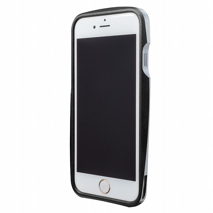 【iPhone6s/6ケース】GRAMAS ラウンドメタルバンパー ブラック iPhone 6s/6_0