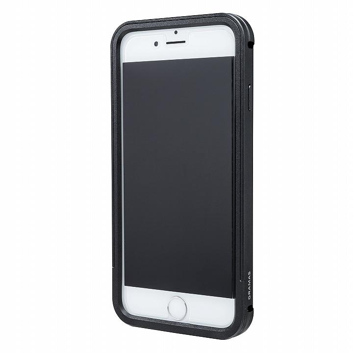 【iPhone6s/6ケース】GRAMAS フルメタルケース ブラック iPhone 6s/6_0