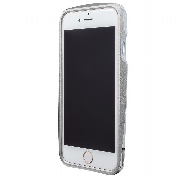 【iPhone6s/6ケース】GRAMAS ラウンドメタルバンパー シルバー iPhone 6s/6_0