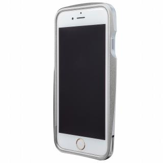 【iPhone6 ケース】GRAMAS ラウンドメタルバンパー シルバー iPhone 6s/6