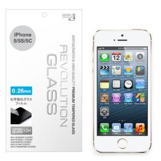 【0.26mm】レボリューション iPhone SE/5s/5c/5保護強化ガラス