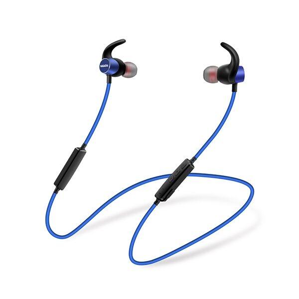 ナガオカ 長時間再生対応 マグネットスイッチ搭載 Bluetoothイヤホン ブルー_0