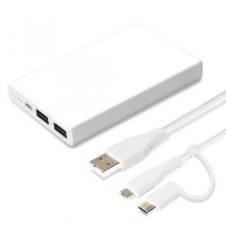 iCharger Type-Cμ USBタフケーブル付き モバイルバッテリー5000mAh ホワイト