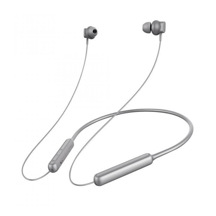 Premium Style Bluetooth 4.1搭載 ワイヤレス ステレオ イヤホン ネックバンドスタイル グレー_0
