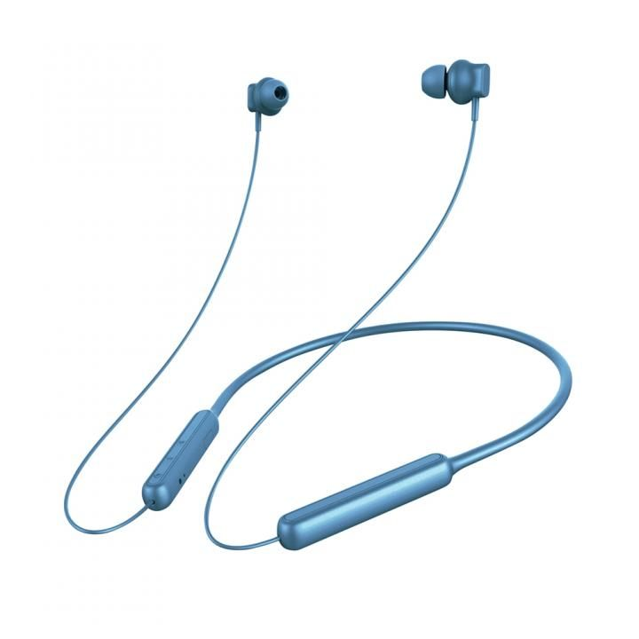 Premium Style Bluetooth 4.1搭載 ワイヤレス ステレオ イヤホン ネックバンドスタイル ブルー_0