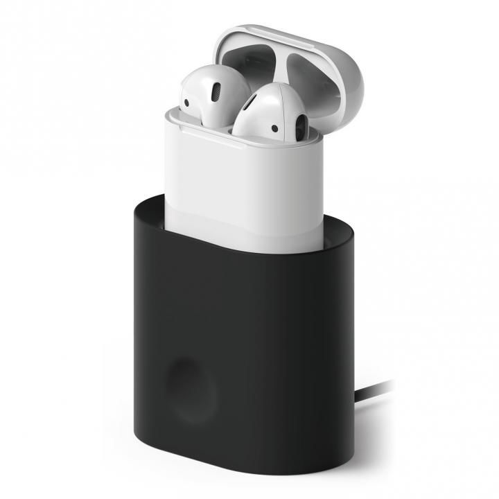 elago CHARGING STATION for AirPods Black_0