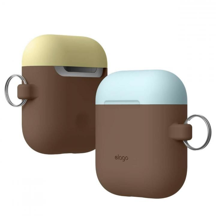 elago AIRPODS DUO HANG CASE for AirPods Dark Brown_0