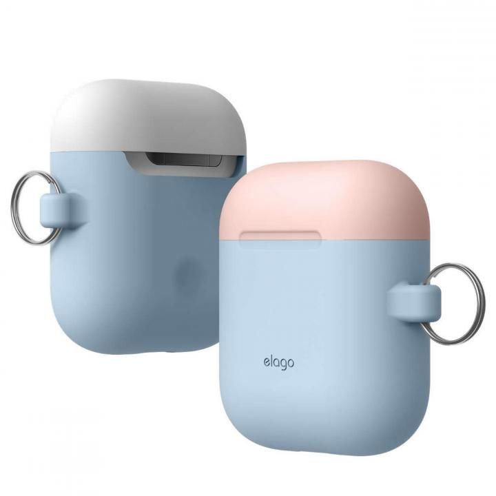 elago AIRPODS DUO HANG CASE for AirPods Pastel Blue_0
