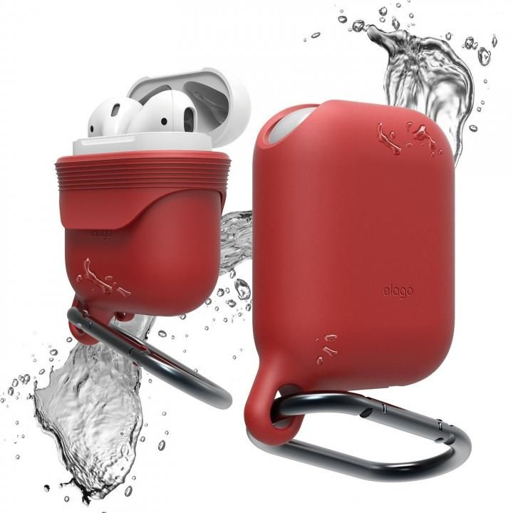 elago AirPods WaterProof Hang Case for AirPods Red_0