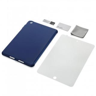 iPad mini/2/3対応 スマートカバー対応 シリコンケース ネイビー
