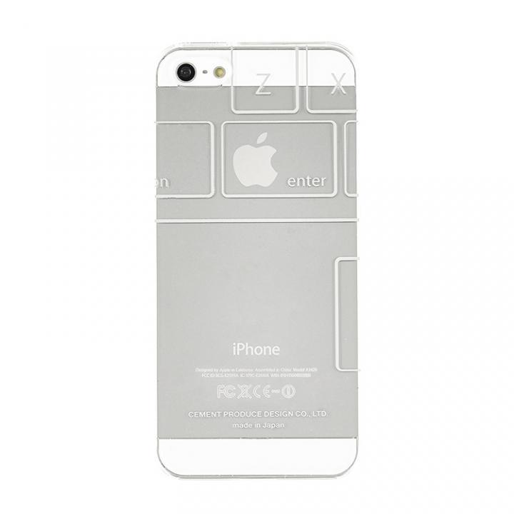 【在庫限り】iPhoneにタトゥーを iTattoo5 Keyboard ホワイト iPhone 5s/5ケース