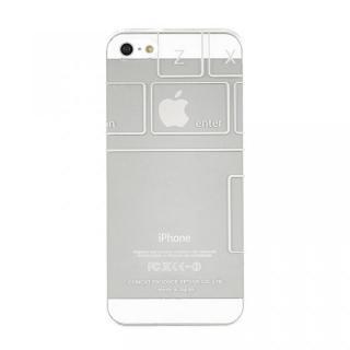 Phoneにタトゥーを iTattoo5 Keyboard ホワイト iPhone SE/5s/5ケース